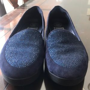 FITFLOP Q45 Sneaker loafer blue suede like new